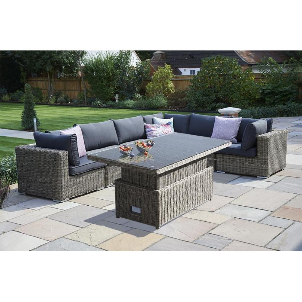 7 Piece Mayfair Modular Rattan Garden Furniture Set J